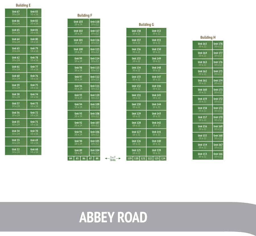 Mass Pay Info Site: Storage Unit Map W6760 Abbey Road